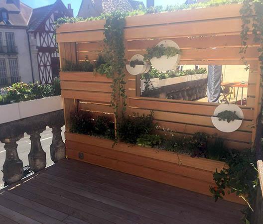 Terrasses de ville végétaliser à Dijon 5